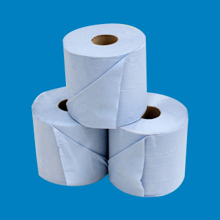 Centrefeed Roll 2 ply Blue