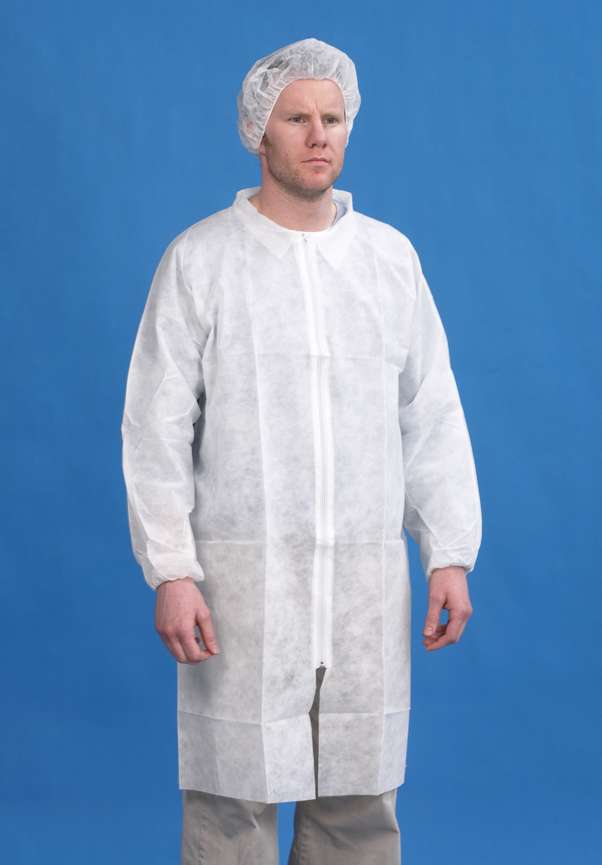 CleanTek Coat with Collar Med
